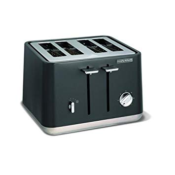 Morphy Richards Aspect Stainless Steel Four Slice Toaster - Titanium